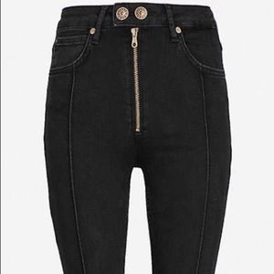 SANDRO VISIBLE SEAM HIGH-RISE SKINNY JEANS IT/36